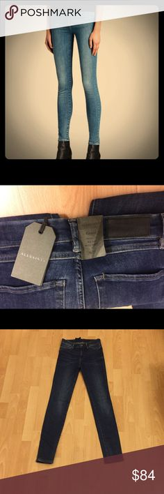 New All Saints Grace Jeans Blue size 25 New All Saints Grace Jeans Blue size 25. Mid rise, Skinny fit, Body shaping All Saints Jeans Skinny