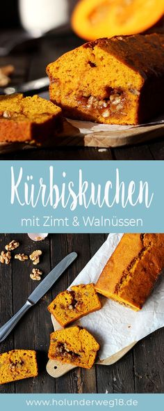 Kürbiskuchen mit Walnusskaramell und Zimt - Juicy pumpkin pie: batter with pumpkin, cinnamon and walnut caramel - pumpkin spice latte as a cake! Tart Recipes, Healthy Dessert Recipes, Health Desserts, Easy Desserts, Greek Recipes, Dessert Simple, Pumpkin Cheesecake Recipes, Pumpkin Recipes, Gateaux Cake