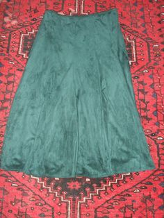 Size S Official Website New Monsoon Silk-look Deep Green Midi Skirt With Tags And Elastic Waist Women's Clothing