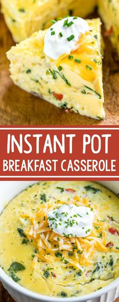 This Instant Pot Breakfast Casserole is basically the deep-dish crust-less quiche of my dreams! Serve it up for breakfast, brunch, or brinner and feel free to make it in advance - it's great the…More 8 Indulgent Keto Instant Pot Pressure Cooker Ideas Instant Pot Pressure Cooker, Pressure Cooker Recipes, Pressure Cooking, Deep Dish, Poulet Hasselback, Brunch Recipes, Breakfast Recipes, Vegetarian Breakfast Casserole, Nutritious Breakfast
