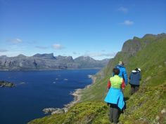 On the way down from Ballstadheiha, perfect day with lots of sunshine! Way Down, Lofoten, Norway, Sunshine, Hiking, Mountains, Water, Day, Travel