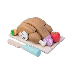 This fantastic Honeybake Chicken Sunday Roast Dinner Set from award winning wooden toy company Le Toy Van is a fantastic play food set for any young child. Play Food Set, Pretend Food, Pretend Play, Role Play, Van Kitchen, Sunday Roast Dinner, Wooden Play Food, Chicken Toys, Roast Chicken