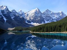 Valley of the Ten Peaks, Moraine Lake, Alberta, Canada.