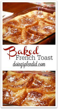 Baked French Toast at DoingSplendid.com