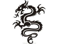 Tribal Dragon Tattoo, Tribal Dragon Tattoo, This image has get Alien Tattoo, Shark Tattoos, Eagle Tattoos, Elephant Tattoos, Feather Tattoos, Dog Tattoos, Tatoos, Leopard Tattoos, Black Ink Tattoos