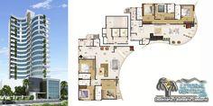 Apartamento na planta, com 3 suítes + vagas privativas no Edifício Santana, no centro de Balneário Camboriú.