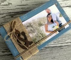 Rustic Wood Picture Display Wood Block Photo Display by 0namesleft