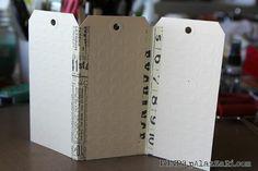 Tags + Washi Tape = Mini Album by Help Me Ronda