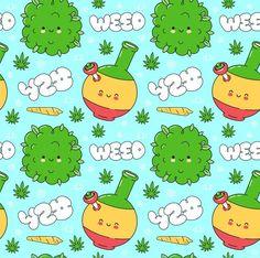 Weed marijuana seamless pattern | Premium Vector #Freepik #vector #leaf #character #cartoon #hand-drawn Finland Map, Korea Map, United Kingdom Map, Emoji Set, India Map, France Map, Funny Happy, Character Illustration, Character Concept