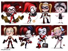 cartoon-style-evolution-of-harley-quinn-by-jeff-victor