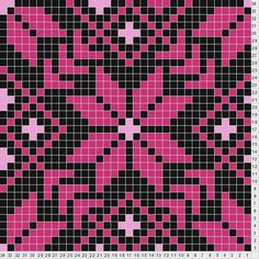 Fair isle perler bead pattern - can be made with one round granny squares Bead Loom Patterns, Perler Patterns, Beading Patterns, Cross Stitch Patterns, Beaded Cross Stitch, Knitting Charts, Knitting Stitches, Knitting Patterns, Crochet Stitches