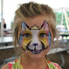 Princess Cat face paint design