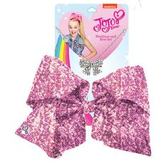 JoJo Siwa Signature Sequin Bow And Necklace Set - Pink Jojo Siwa Bows, Jojo Bows, Big Bows, Cute Bows, Jojo Juice, Jojo Siwa Outfits, Jojo Siwa Birthday, Kids Makeup, Princess Girl