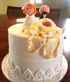 Pre-wedding red velvat cake. Yum! Enquire via www.facebook.com/BabyBerryC