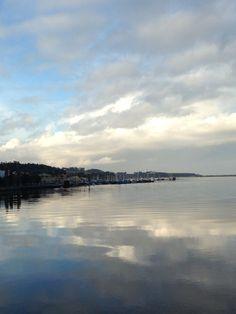 Running Porto / nubes sobre el Duero...