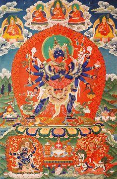 Chakrasamvara in dvenadtsatirukoy form.