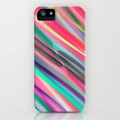 multicolored lines no. 2 iPhone & iPod Case by Christine baessler - $35.00