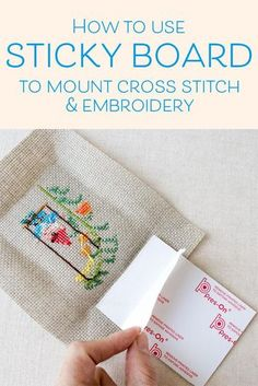 Embroidery Stitches Ideas How to frame cross stitch and embroidery using sticky board for a flat finish - There are a number of ways to prepare your finished cross stitch or embroidery for framing. One of the easiest is to use self-stick mounting. Cross Stitching, Cross Stitch Embroidery, Embroidery Patterns, Hand Embroidery, Simple Embroidery, Modern Embroidery, Cross Stitch Tutorial, Cross Stitch Bookmarks, Cross Stitch Frames