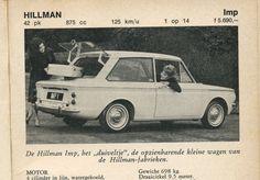 Hillman Imp (het 'Duiveltje') from Alle auto's I - van 3000 tot 7500 gulden, Holland 1962