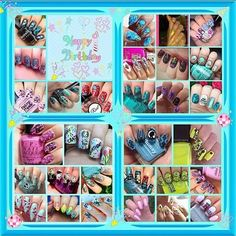 Today is the birthday of stamping goddess Debbie  aka @ladyandthe_stamp ! Debbie is a daily inspiration and has been so supportive and sweet to me since I joined IG!  I'm so privileged to be part of this collage among so many talented nail artists which the awesome Tracy @scarletohara65 organised!! I'm sure I wasn't the only one feeling a bit overwhelmed trying to recreate one of Debbie's masterpieces!! Artists in the collage: @ireneob318 @nanaandhernails @aglowworm @secretjewelgarden…