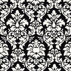 Michael Miller House Designer - Dandy Damask - Dandy Damask in Black