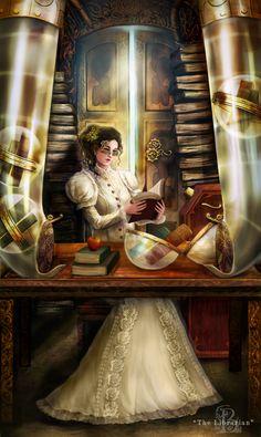 Of Brass and Steam: Librarian by BrookeGillette. #steampunk #victorian #Art #gosstudio .★ We recommend Gift Shop: http://www.zazzle.com/vintagestylestudio ★