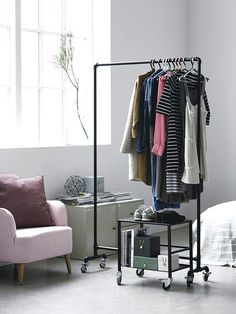Useful information about House Doctor Pipe Clothes Rack Size: 110 X 45 cm, H: 175 cmMaterial: SteelClean: To be cleaned with a dry cloth.House DoctorThe c… House Doctor, Design Shop, Closet Bedroom, Bedroom Decor, Bedroom Ideas, Pipe Clothes Rack, Design Visual, Rustic Home Interiors, Small Closets