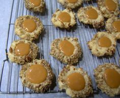 Day 283 - Salted Caramel Thumbprints, Day 10 of the 12 Days of Cookies - 365 Days of Baking