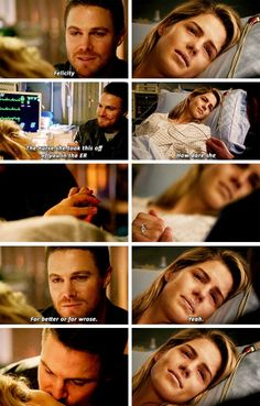 """""""Blood Debts"""" - Oliver and Felicity Then she goes and breaks the engagemant Arrow Cw, Team Arrow, The Flash, Arrow Oliver And Felicity, Felicity Smoak, Arrow Flash, Arrow Memes, Arrow Funny, Arrow Tv Series"""