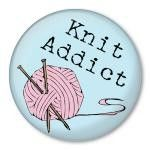 Knit Addict by Zippy Pins, via Flickr