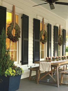 50 Festive Christmas Porch Decor and Design Ideas - decoration - Gifts and Costume Ideas for 2020 , Christmas Celebration