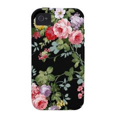 Vintage Elegant Girly Pink Red Roses Pattern iPhone 4/4S Covers $44.95