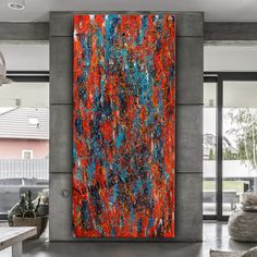 Jackson Pollock Style Painting online - Clouds of Fire #PaintingOnline #Paintings #AbstractArt #ContemporaryArt #ModernPaintings #AbstractArtSale #PaintingForSale