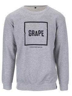 Sivá unisex mikina s logom Grape 29,95€