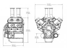 overall dimensions of the v4 Katech engine