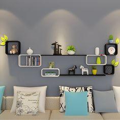 Living Room Wall Designs, Living Room Partition Design, Room Partition Designs, Home Room Design, Unique Wall Shelves, Wall Shelf Decor, Wall Shelves Design, Display Shelves, Home Decor Furniture