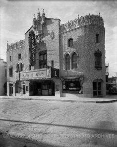 Lensic Theater  San Francisco Street, Santa Fe, New Mexico - ca 1934  Photo By: T. Harmon Parkhurst  Negative #050969