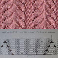 Lace Knitting Stitches, Lace Knitting Patterns, Knitting Charts, Loom Patterns, Free Knitting, Stitch Patterns, Cross Stitches, Hairpin Lace Crochet, Crochet Motif