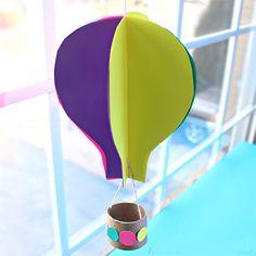 Воздушный шар из бумаги готов