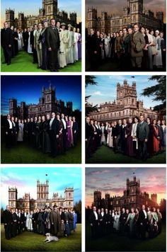 Downton Abbey from beginning to end... I especially love the covers of the 1st, 3rd, and 6th. :)