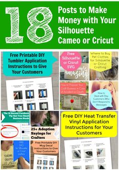 Learn how to make money with your Silhouette Cameo, Curio, Mint, Cricut…