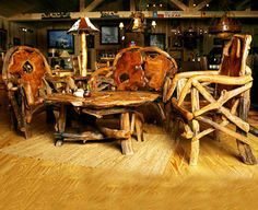 Western Furniture   Rustic Decor   Cabin Decor   Lodge Furniture   Log Cabin Furniture - Santa Fe Ranch