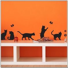 RESERVED FOR EMILY Cats  Wall Decal by Decorette on Etsy, $28.00
