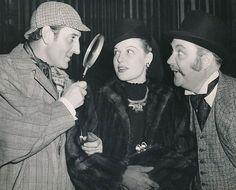 Basil Rathbone, Ann Sheridan and Nigel Bruce