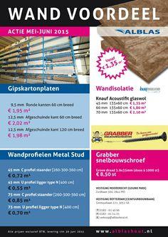Wand voordeel - Gipsplaten - Gipsplaatschroeven - Metal Stud - Wandisolatie glaswol Knauf