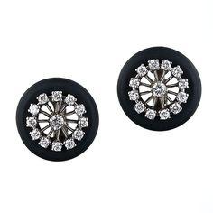 Marsh Steel and Diamond Earrings