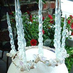 Brighid's Yule Crown - Winter Solstice Snow and Ice Tiara. $125.00, via Etsy.