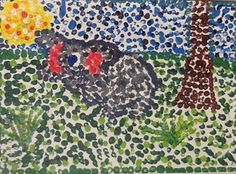 4th grade Pointillism, and paint mixing lesson. Use Q-tips for dots. I think it would work for younger kids also.