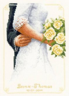 Bridal Bouquet Cross Stitch Kit £27.75 | Past Impressions | Vervaco