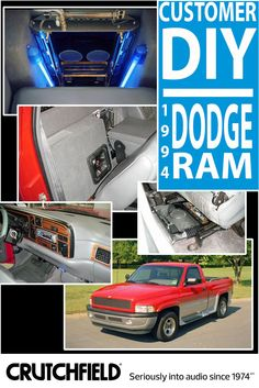 Cody packed some serious sound into his 1994 Dodge Ram with gear from Crutchfield!